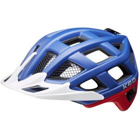 KED Crom Helmet blue/red matte